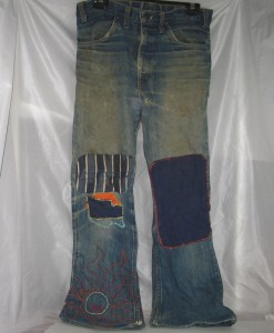 Jeans worn for years, gives a whole new meaning to the organic clothing of today