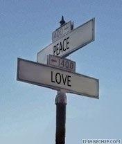 PeaceLoveStreetSign