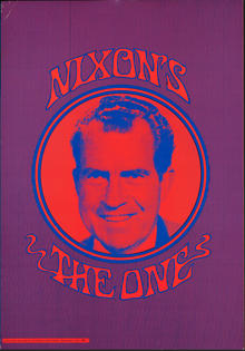 NIXON'S THE ONE Source: Nixon for President Headquarters 1968 Accession/Catalog: 279463.1 Dimensions: