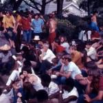Atlanta hippies were a  mix of races.