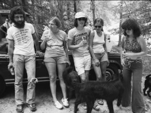 Assorted hipsters at a folk music event in 1973. Two of these people wound up working for Ted Turner's Cable News Network, which goes to prove the infiltration of dope-loving anarchist hippie types in the news media. What Shaun Hannity would do with this information boggles the mind.