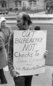 Richard Powers at 1971 demonstration
